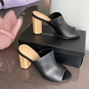 Black  High Heels Slides for women's